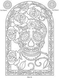 Day Of The Dead Dia De Los Muertos Sugar Skull Coloring Pages Colouring Adult Detailed Advanced Printable Kleuren Voor Volwassenen Coloriage Pour Adulte