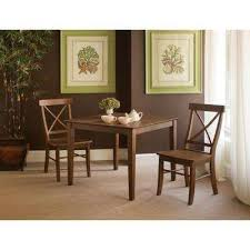 Espresso Wood X Back Dining Chair Set Of 2