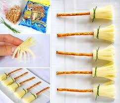 Halloween Pretzel Rod Treats by Cheese And Pretzel Broomsticks