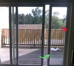 glass door Installing Sliding Glass Dog Door Concrete Lock In