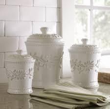 Ceramic Kitchen Canister Sets 3 Ceramic Kitchen Canister Set Jars Sugar Cookie
