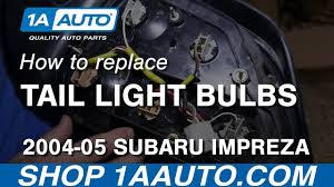 how to replace light bulbs 2004 05 subaru impreza wrx sti