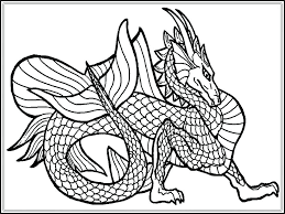 Dragon Coloring Page Pages Just