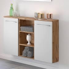 badezimmer sideboard louny 03 in wotaneiche nb mit matt weiß b h t