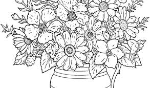 Adult Coloring Pages F Cute Flowers