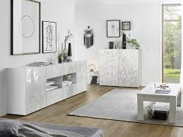 sideboard eris 2 türen 4 schubladen weiß lackiert