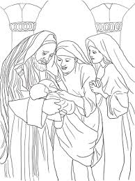 Click To See Printable Version Of Zechariah Elizabeth And Baby John The Baptist Coloring Page