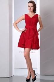 red v neckline 2012 top short ceremony dresses