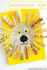 Lion Arts And Crafts For Preschoolers Awesome Newspaper Craft Kids Cr On Letter L