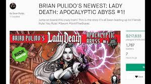 Brian Pulidos LADY DEATH Comic Book Kickstarter Nearing A Quarter Million Dollars Only 4 Hrs Left