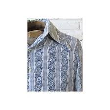M Vintage Mens 70s Disco Shirt White W Navy Blue Decorative 40 Liked On Polyvore Featuring Fashion Clothing Prom Tuxedos