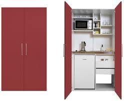 kompakte schrankküche in rot kaufen