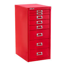 Bisley Filing Cabinet 2 Drawer by Bisley Red 8 Drawer Collection Cabinet The Container Store