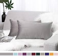 lewondr samt kissenbezug 30x50cm 2 set sanft einfarbige moderne quadratische kissen hülle zierkissenbezüge für weihnachten deko wohnzimmer sofa