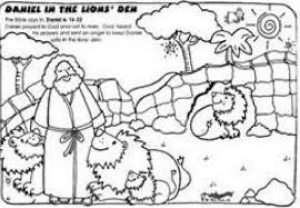Daniel And The Lion Den Coloring Book Ages Catholic Pages For Free 2015