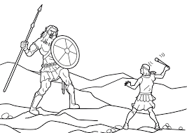 David And Goliath Coloring Pages