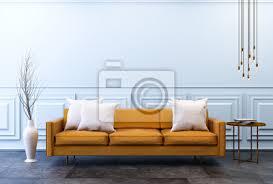 moderne vintage interieur mit kopie raum wand wohnzimmer braunes bilder myloview