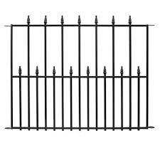 Decorative Garden Fence Home Depot by Hampton Bay Empire 2 5 Ft X 3 Ft Black Steel 3 Rail Fence Panel