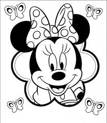 Minnie Mouse Coloring Pages For Kids Printable