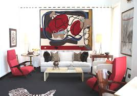 Black Red And Gray Living Room Ideas by Living Room Makeover Office Design Large Glass Wall With Blind