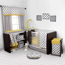 bacati dots pin stripes gray yellow girls 10 piece nursery in a