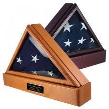 Officers Flag Display Case AND Pedestal For 5ft X 95ft