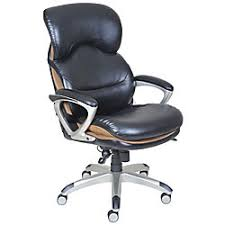 serta wellness by design air executive leather office chair