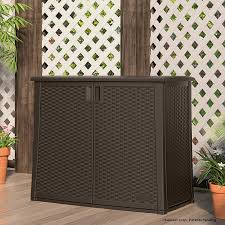 Suncast Vertical Shed Manual by Amazon Com Suncast Elements Outdoor 40 Inch Wide Cabinet Patio