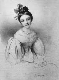 Clara Wieck 1832 Lithographie Nach Einem Gemalde Von Eduard Fechner