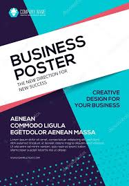Vector Business Poster Flyer Template For Your Cover Presentation Stock