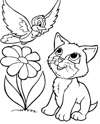 Kitty Cat Coloring Pages Fresh Vogel En Kat Kids