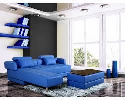 canapé cuir d angle canapé d angle en cuir bleu réversible et convertible largo