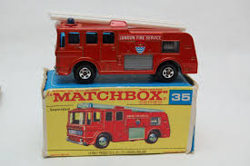 100 Matchbox Fire Trucks No35 Merriweather Engine Superfast WOriginal Box By