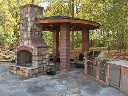 Faux Brick Outdoor Fireplace The Great bination For The With