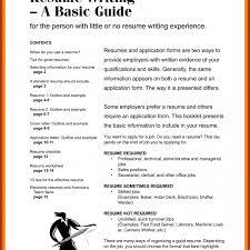Entry Level Resume Summary No Experience