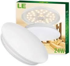 le 24w deckenleuchte ø41cm ersetzt 180w glühbirne 50w leuchtstoffröhre warmweiße led innenleuchte 2000lm 3000k 120 abstrahlwinkel ideal als