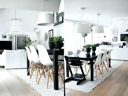 Black Dining Room Light Fixtures Wood Bright White Table Set