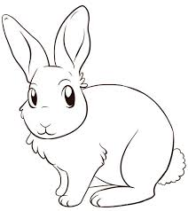Cute Rabbit Color Pages To Print Coloring Page