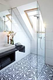luxurious and beautiful bathroom on the top floor black and white