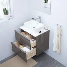 godmorgon waschbeckenschrank 2 schubl hochglanz grau