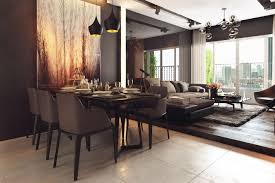 two homes with decor and neutral colors dining