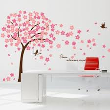 Cherry Blossom Bathroom Decor by Trees And Flower Wall Decals You U0027ll Love Wayfair