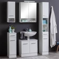 bad spiegelschrank riga mit beleuchtung 2 türig 60 cm breit weiß