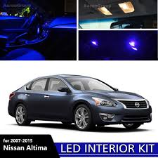 12PCS Blue LED Interior Light For 2007-2015 Nissan Altima White For ...