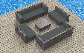 Amazon UrbanFurnishing 11a Bermuda Charcoal 11 Piece Modern Patio Furniture Sofa Sectional Couch Set Garden Outdoor