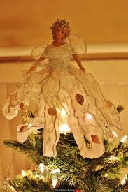 Seashell Christmas Tree Garland by Angel Tree Topper Became A Seashell Angel By Adding Shells