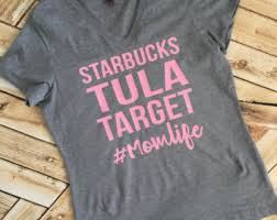 Coffee Target Tula Mom Life V Neck Babywearing Ladies Tee Racer Back Tank Top