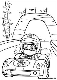 Nonny Bubble Guppies Driving Racing Car Coloring Page Online Printable