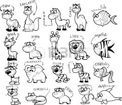 zoo animals clipart black and white 9
