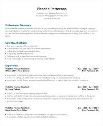 Medical Assistants Resume Samples Of Assistant Resumes With